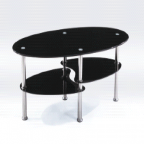 Table basse 3 plateaux ovales pour 19 euros for Table basse 20 euros