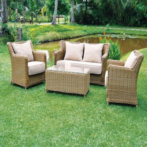 Salon de jardin trinidad en wicker - Salon de jardin bas riverside wicker ...